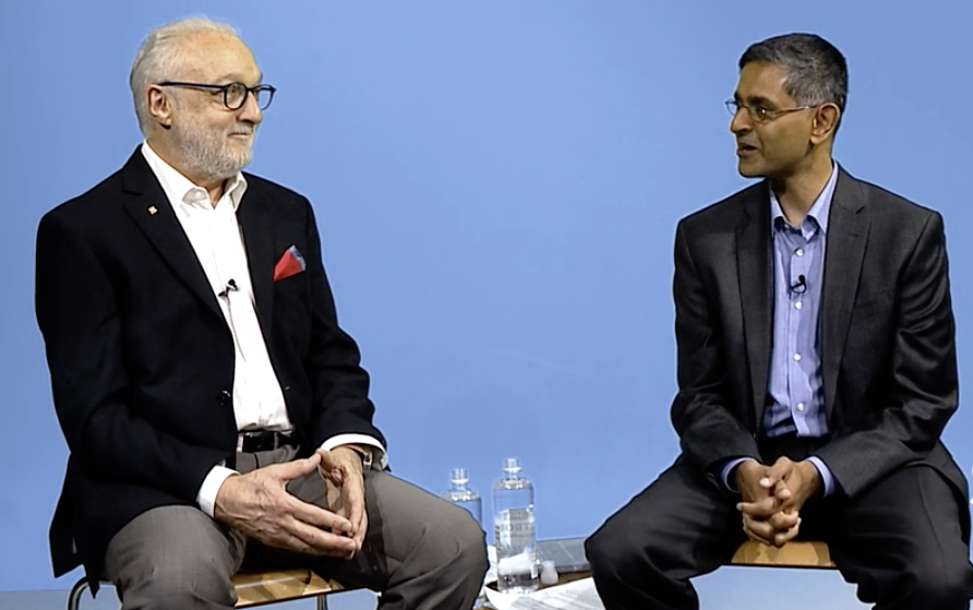 Robert with Mahesh Ram, Co-Founder & CEO, Solvvy